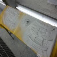 塗装した準備サフェーサー